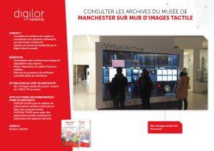 Consulter les archives du musée de Manchester sur mur d'images tactile