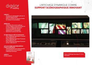 L'affichage dynamique comme support scénographique innovant