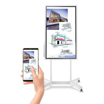Totem tactile SAMSUNG FLIP synchronisation smartphone