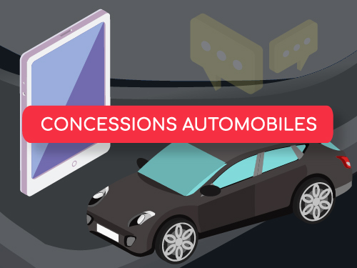 Bouton infographie concession automobile digitale
