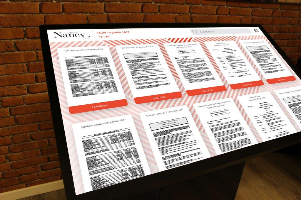 borne interactive accès documents mairie