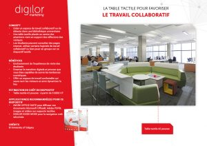 table tactile espace collaboratif bibliothèque