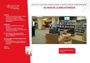 espace de détente avec écran affichage dynamique diffusant les actualités