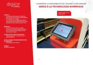 tablette tactile pour consulter les disponibilités de la rangée et consulter résumé