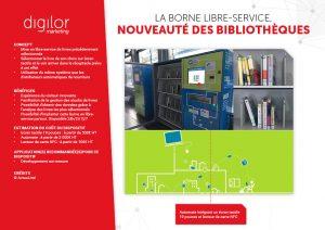 borne libre service bibliotheque ecran tactile