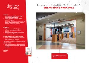 corner digital bibliotheque capter attention visiteur