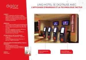 borne de réservation chambre hotel