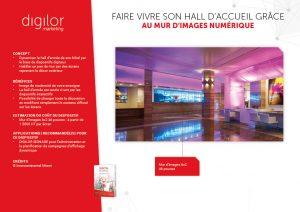 mur d'images numérique habiller hall d'accueil hotel