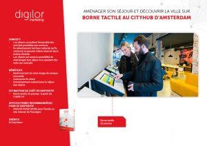 borne tactile hotel pour autonomie client dans prise d'informations