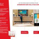 totem tactile d'informations hall d'accueil hotel présentation des services