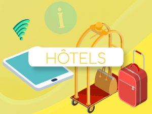 Bouton infographie digitalisation hôtel