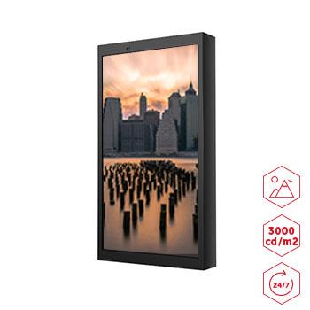 Totem d 39 affichage outdoor 55 pouces for Affichage led exterieur