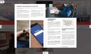 Application liseuse PDF tactile livre blanc