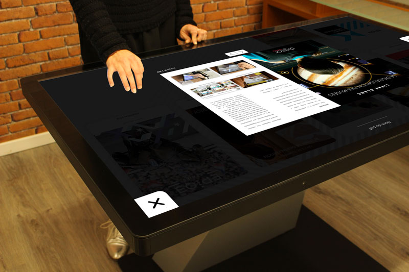 Application PDF interactive table tactile multitouch