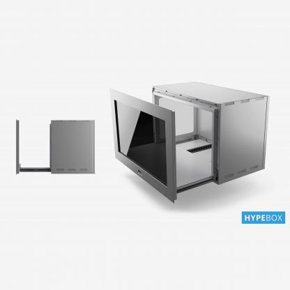 Ecran transparent Hypebox 42 pouces fabrication