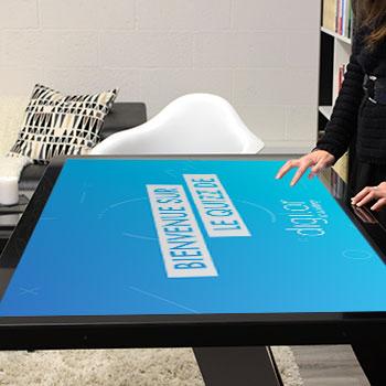 Table tactile 4K 49 pouces digitale multitouch