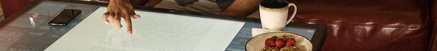Table tactile 4K 55 pouces digitale application