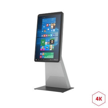 Totem tactile 4k 55 pouces digital for Borne tactile exterieur