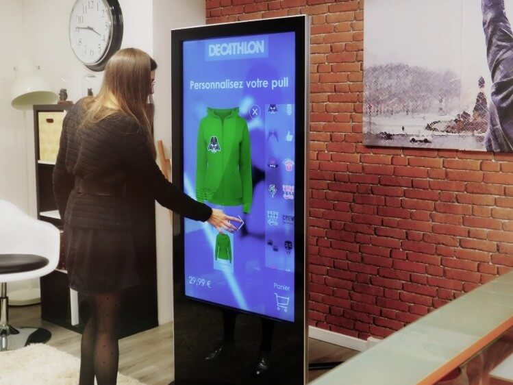 Totem tactile iSLIM multitouch 32 40 50 58 pouces