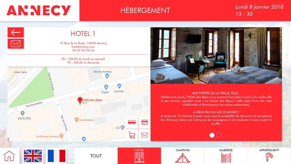 Application OTIC paysage hébergement hôtel détails