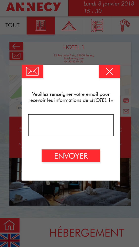 Application OTIC portrait informations mail
