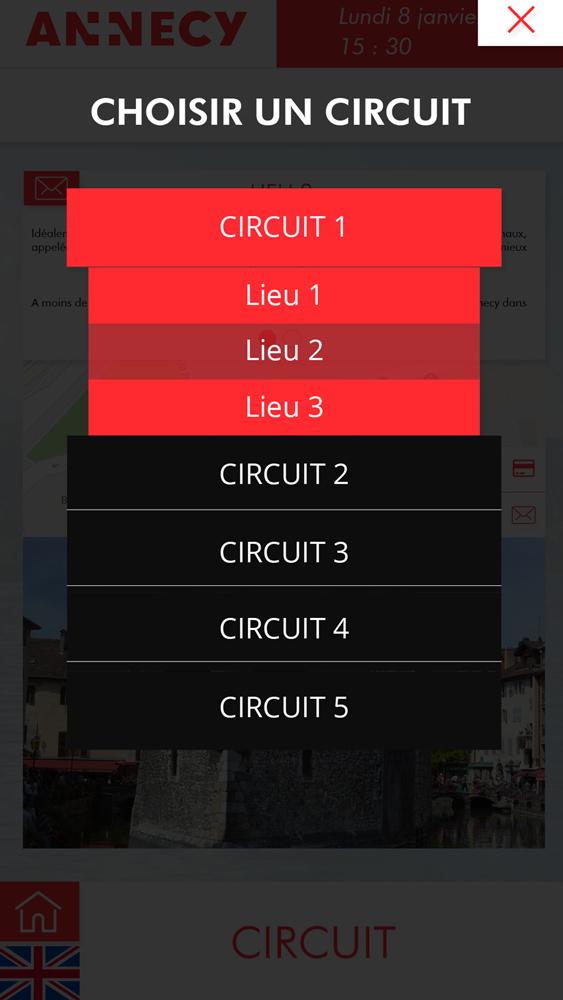 Application OTIC portrait choix circuit