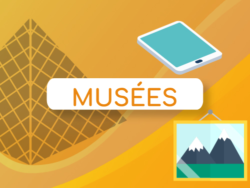 Bouton infographie digitalisation musée