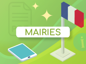 Bouton infographie digitalisation mairie