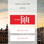 Lille application tactile accueil