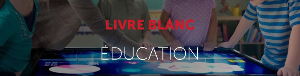 Livre blanc bandeau numérique éducation