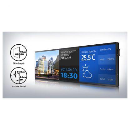 Moniteur stretch Samsung 37 pouces aéroport