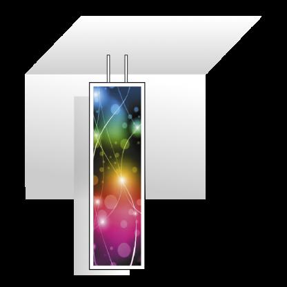 Panneau LED mural support suspendu