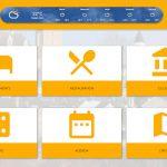 Pau application tactile menu