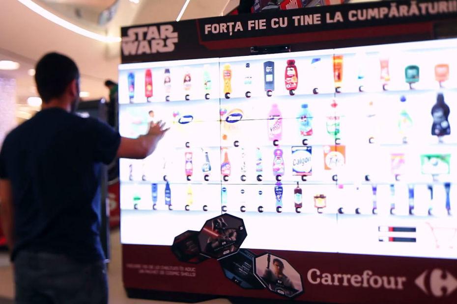 Dispositif interactif tactile Carrefour