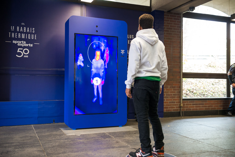 Metro digital borne thermique
