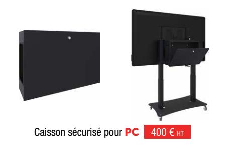 Table interactive multitouch caisson sécurisé pour PC
