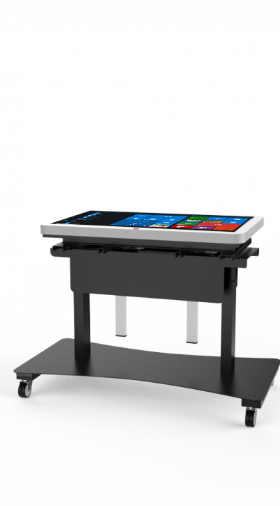 table interactive multitouch varitilt side