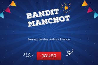 Bandit manchot support tactile accueil