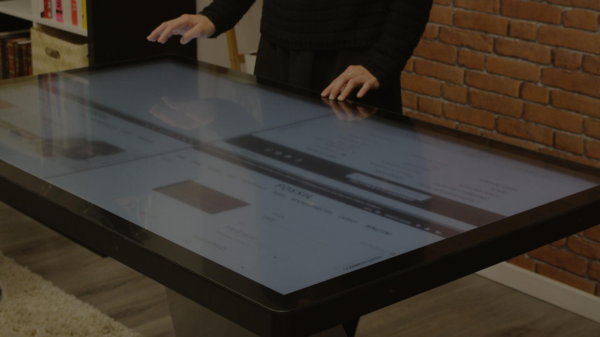 Bannière tables tactiles