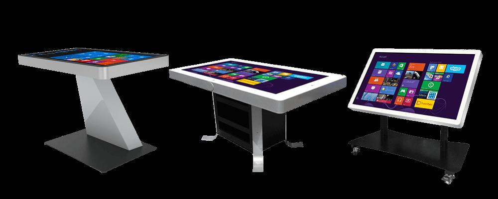 Tables tactiles produits