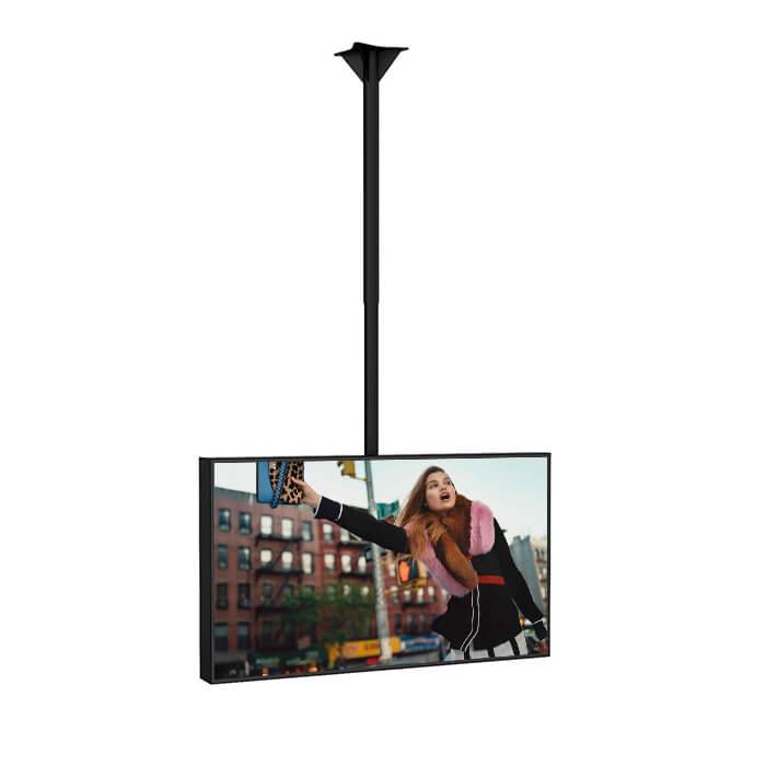 Support plafond écran paysage vitrine digitale affichage dynamique