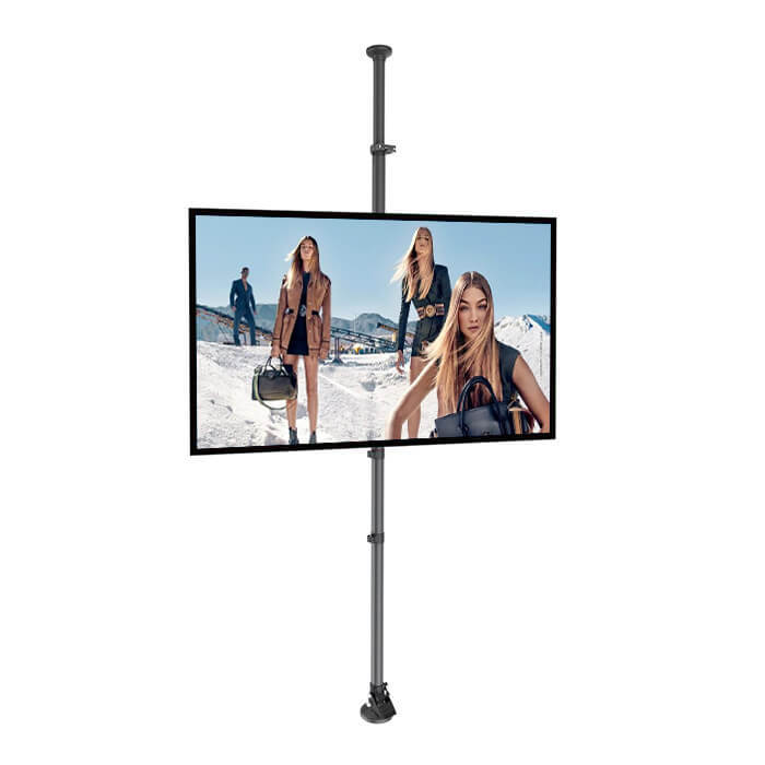 Support sol plafond vitrine digitale affichage dynamique