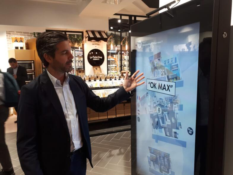 Magasin Casino borne tactile max phygital