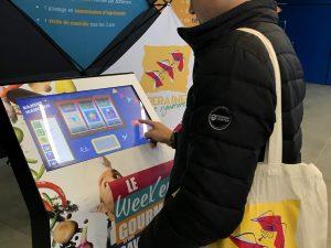 Bornes tactiles jeux concours