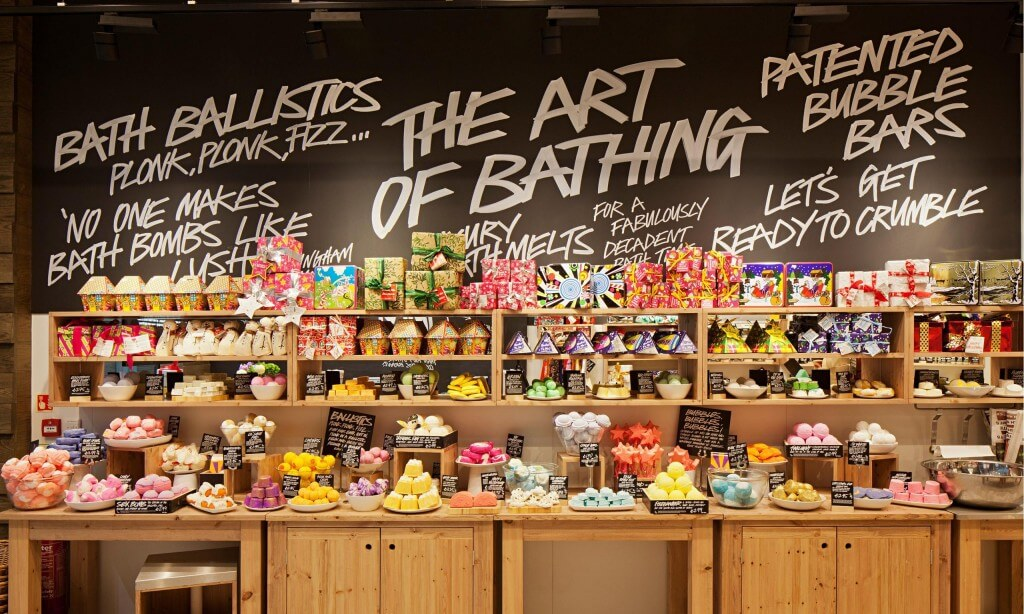 Marketing sensoriel Lush