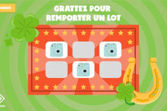 Application tactile jeu à gratter victoire
