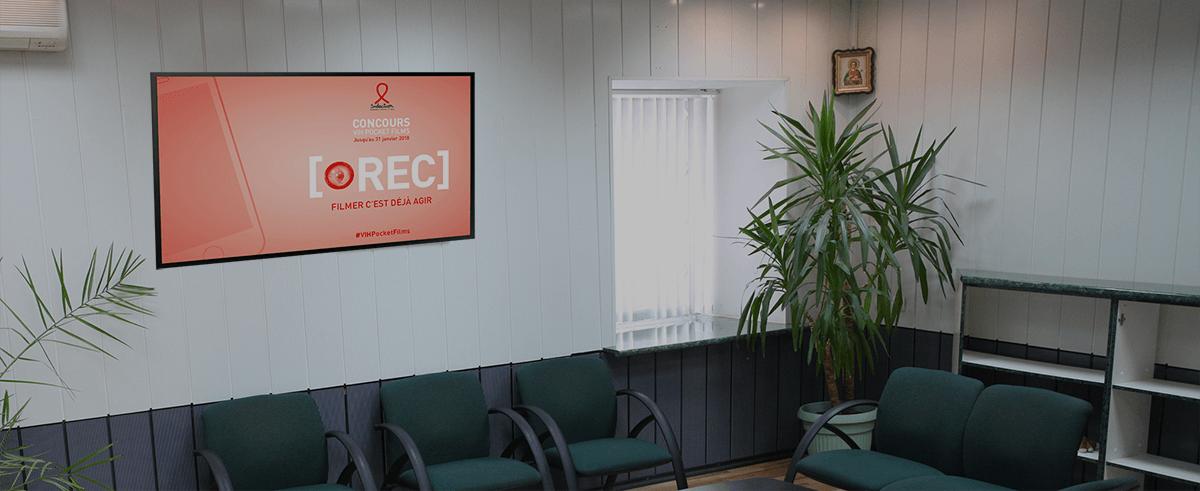 Affichage dynamique salle d'attente profession libérale