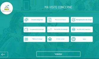 Application Mancelle d'habitation solution gestion de l'accueil des visiteurs