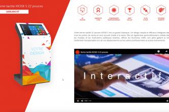 Application tactile présentation entreprise vidéo