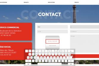Application tactile présentation entreprise contact